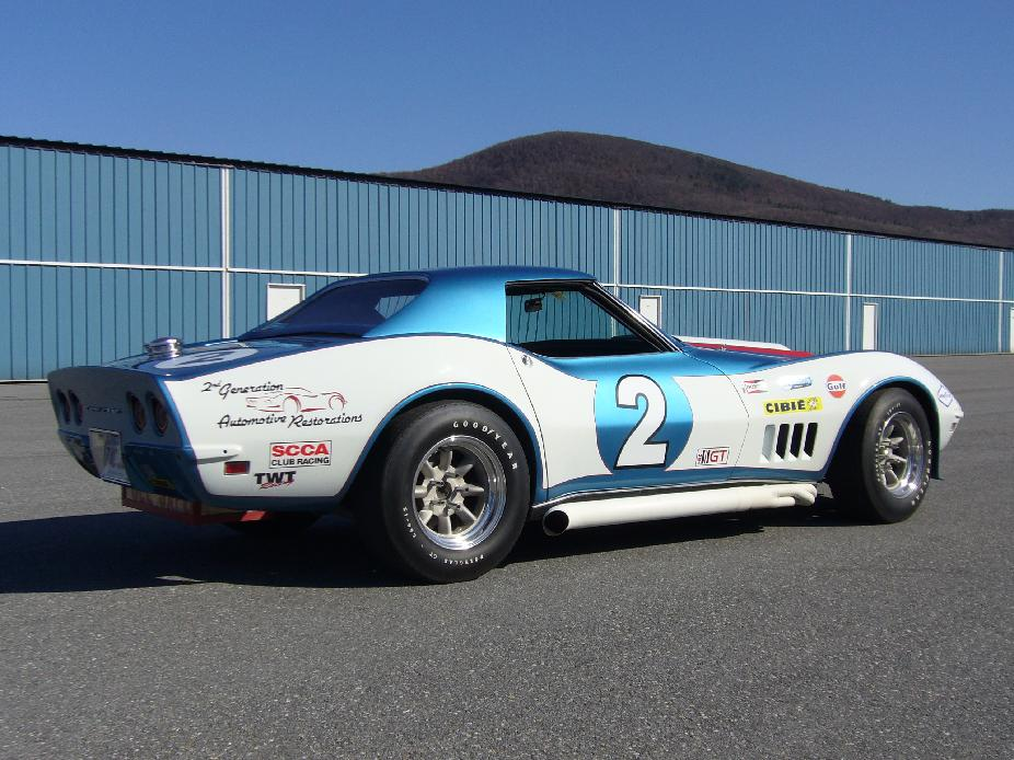 1968 corvette roadster road race car  restoration